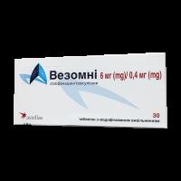 Везомни 6 мг/0,4 мг табл. №30